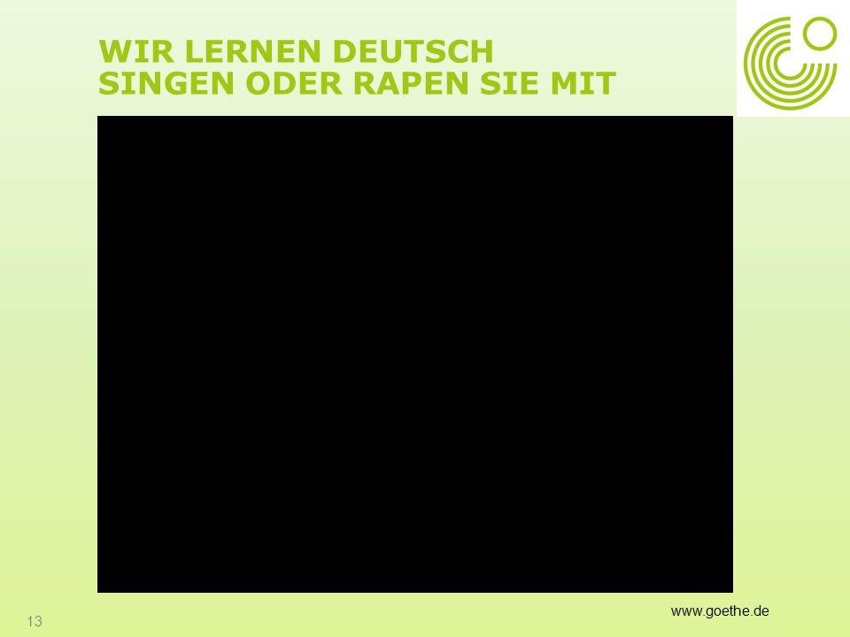 Wir lernen Deutsch Singen oder Rapen Sie mit