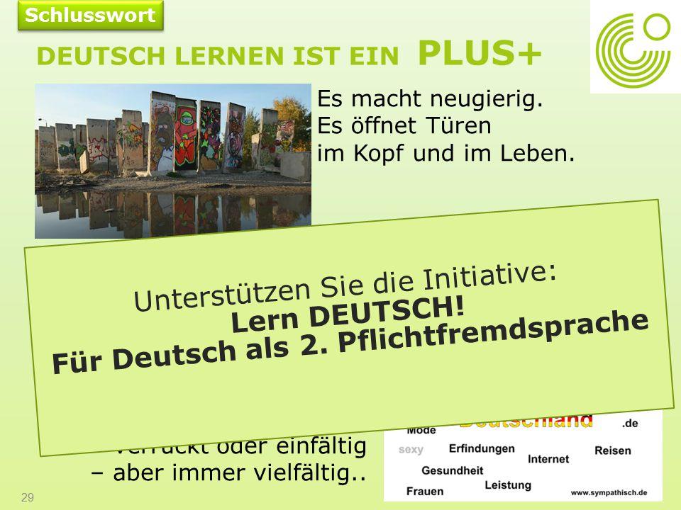 Deutsch lernen ist ein PLUS+