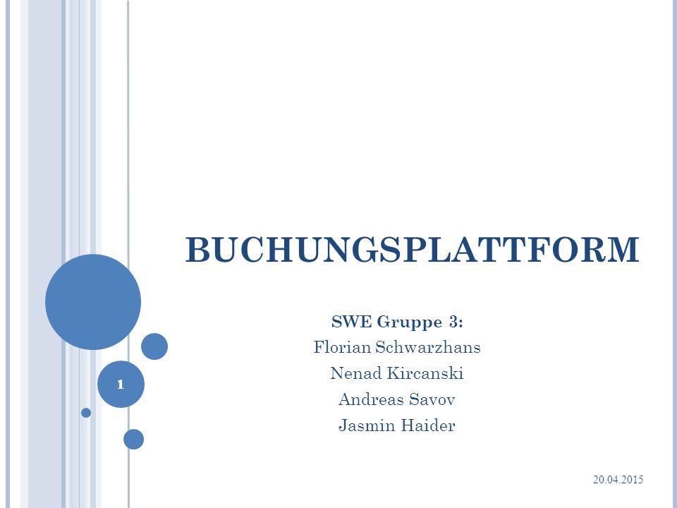 BUCHUNGSPLATTFORM SWE Gruppe 3: Florian Schwarzhans Nenad Kircanski