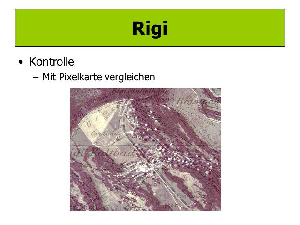Rigi Kontrolle Mit Pixelkarte vergleichen