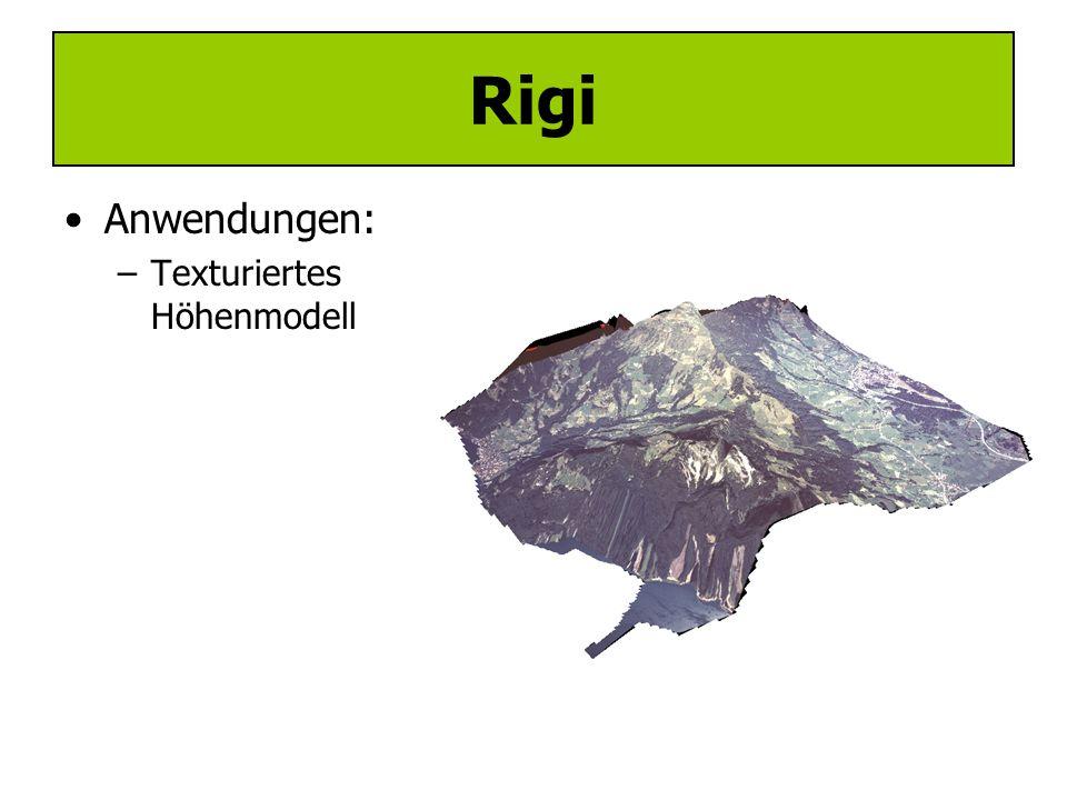 Rigi Anwendungen: Texturiertes Höhenmodell