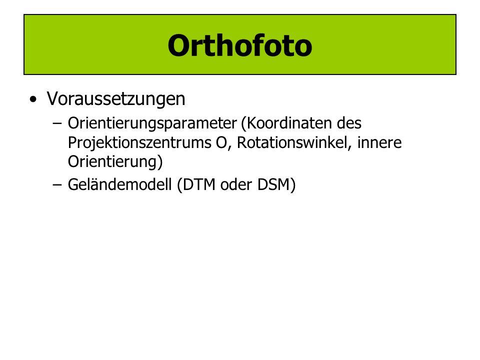 Orthofoto Voraussetzungen