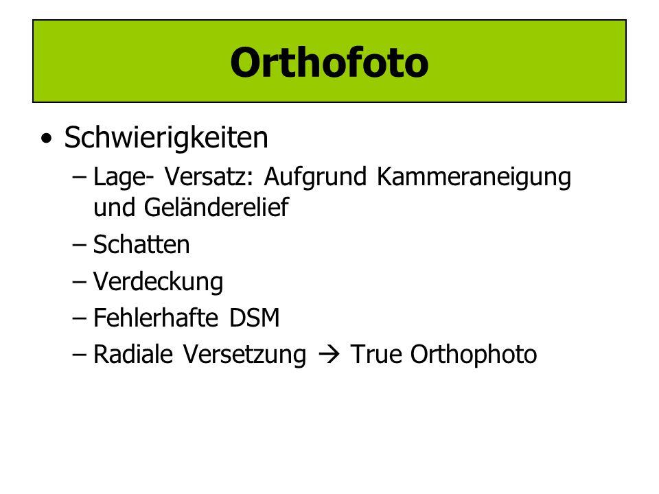 Orthofoto Schwierigkeiten