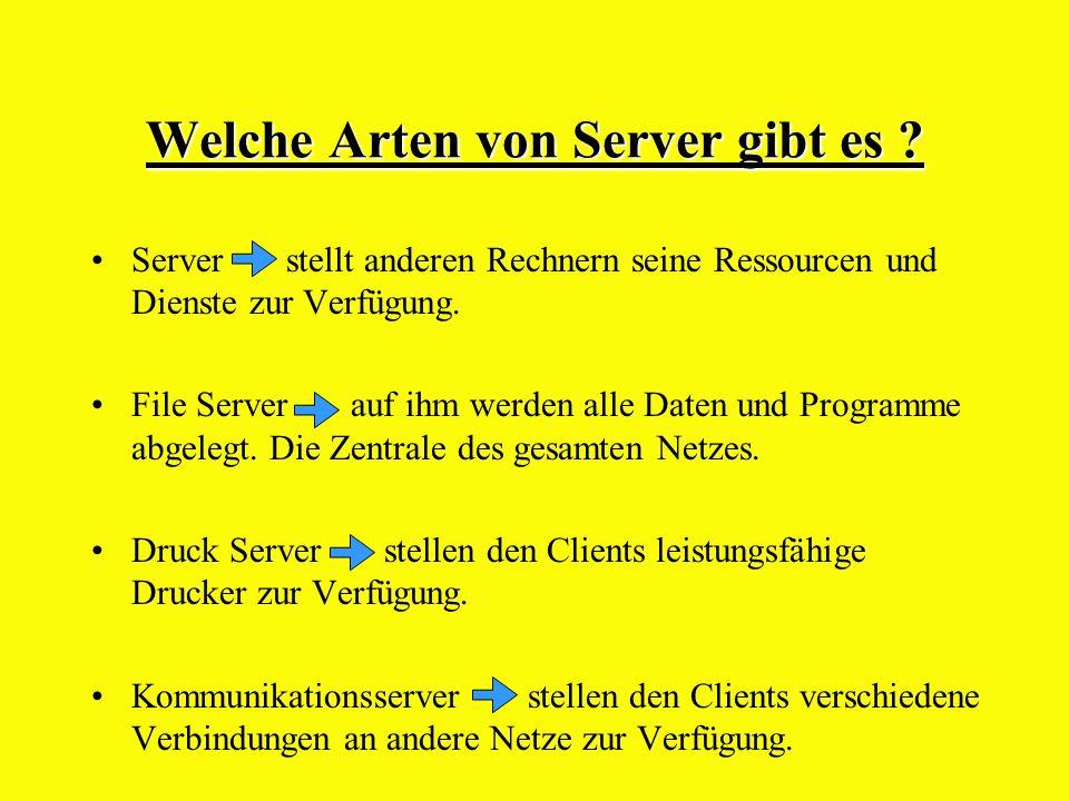 Welche Arten von Server gibt es