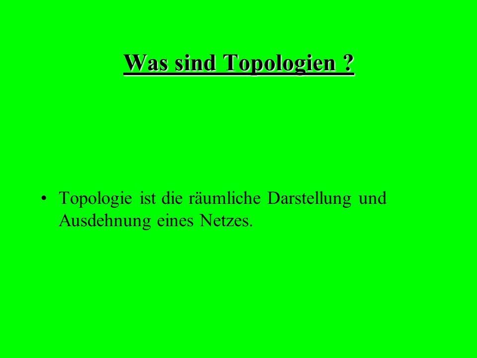 Was sind Topologien Topologie ist die räumliche Darstellung und Ausdehnung eines Netzes.
