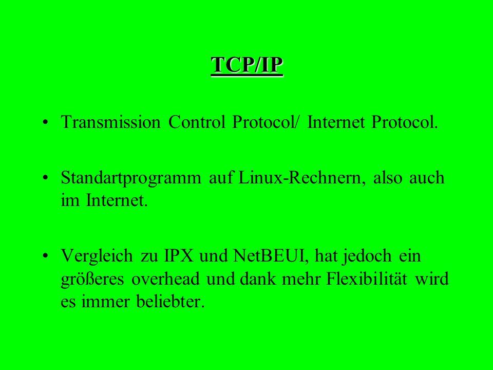 TCP/IP Transmission Control Protocol/ Internet Protocol.