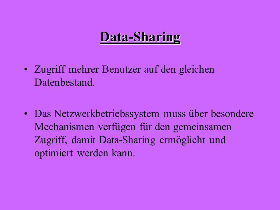 Data-Sharing Zugriff mehrer Benutzer auf den gleichen Datenbestand.