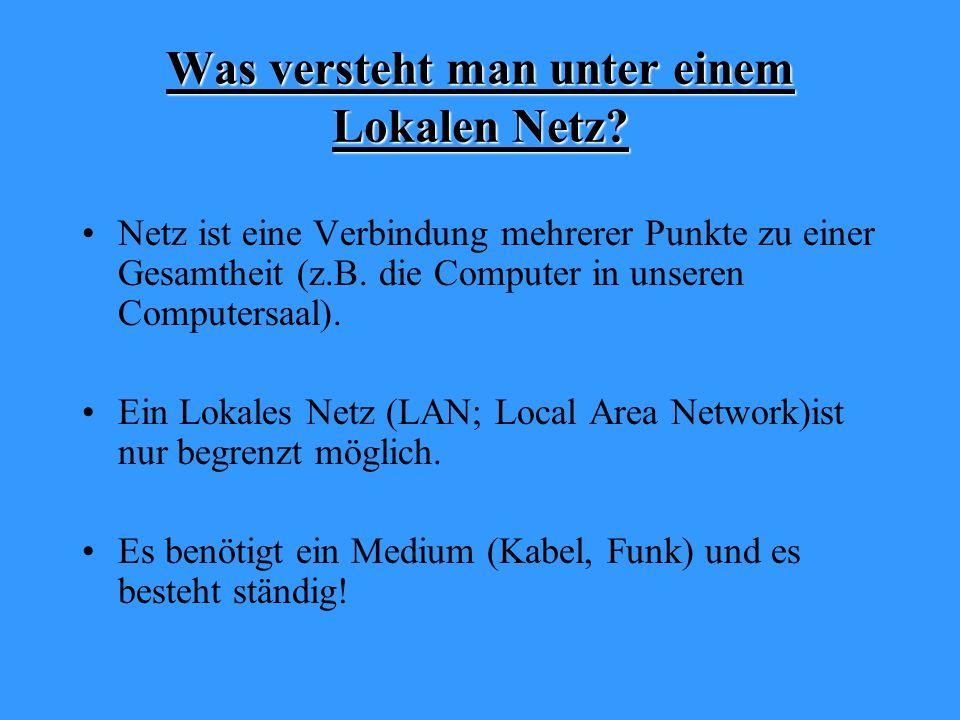 Was versteht man unter einem Lokalen Netz