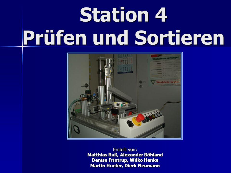 Station 4 Prüfen und Sortieren