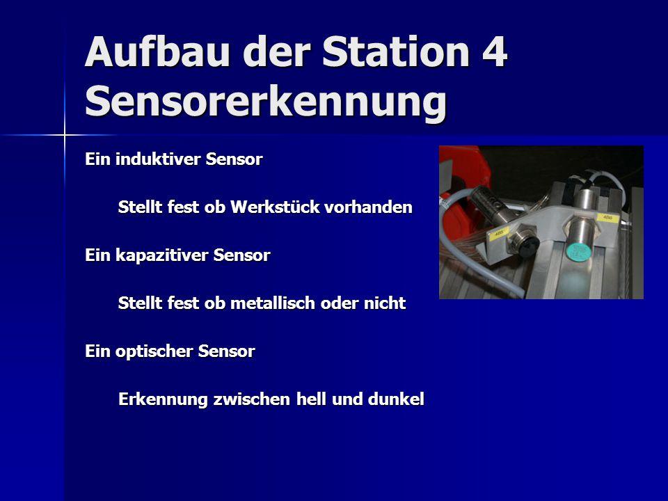 Aufbau der Station 4 Sensorerkennung