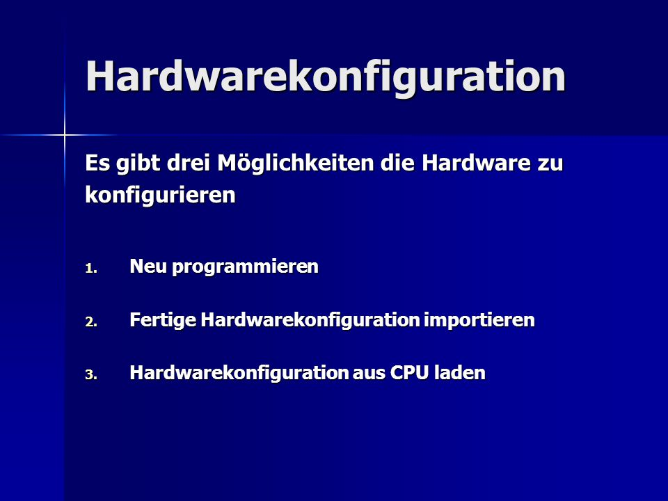 Hardwarekonfiguration