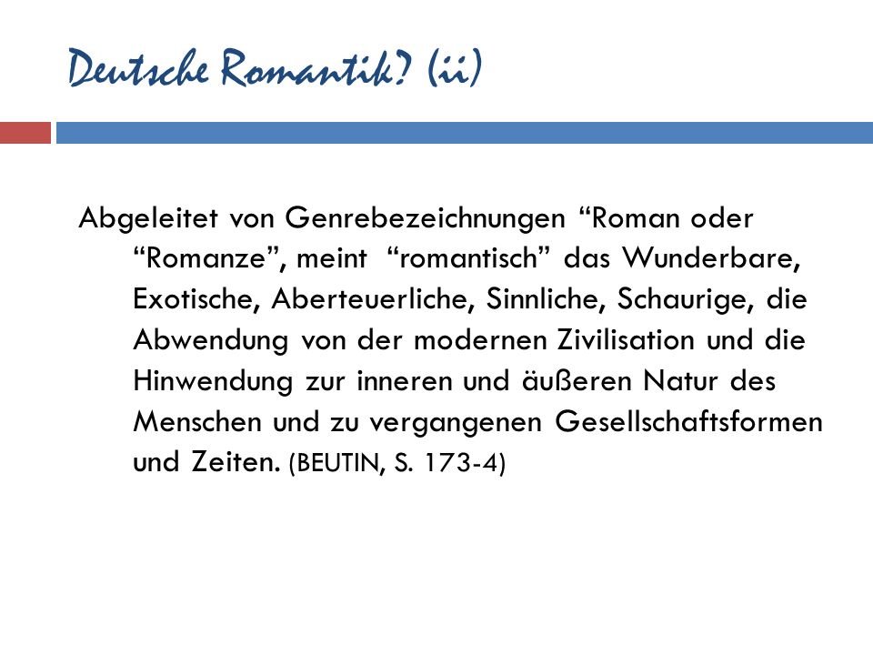 Deutsche Romantik (ii)