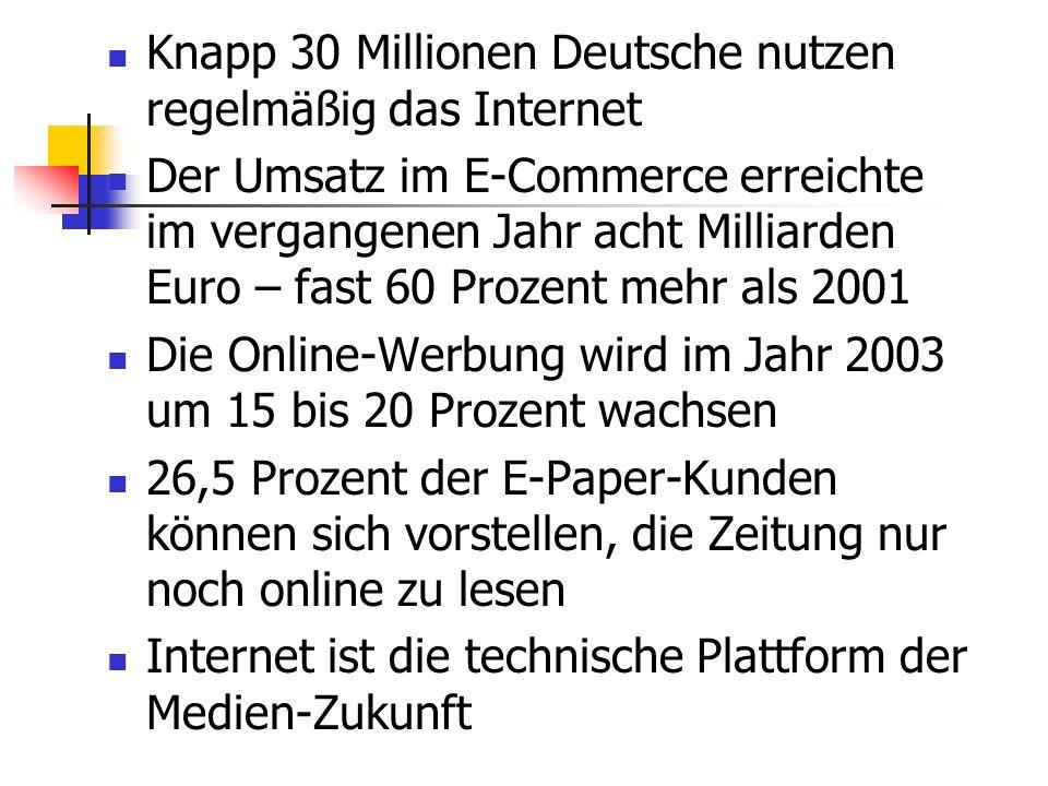 Knapp 30 Millionen Deutsche nutzen regelmäßig das Internet
