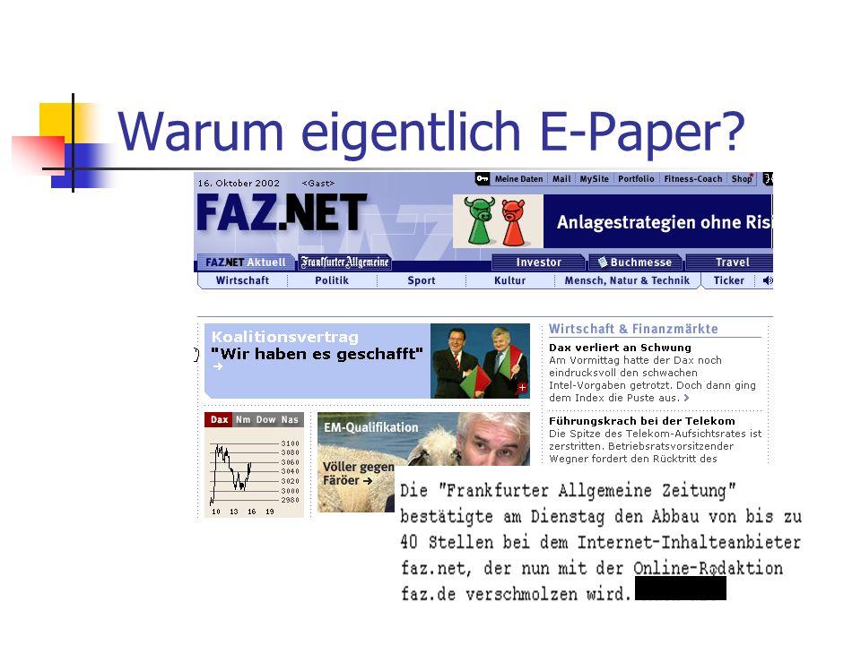 Warum eigentlich E-Paper