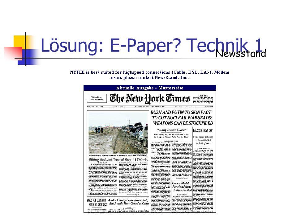 Lösung: E-Paper Technik 1
