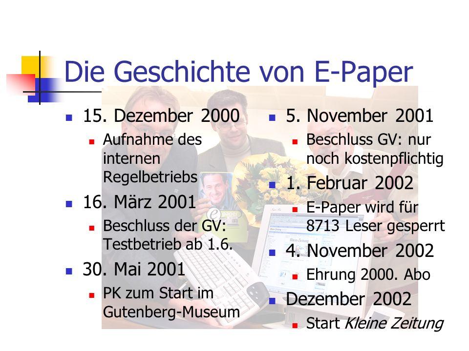 Die Geschichte von E-Paper