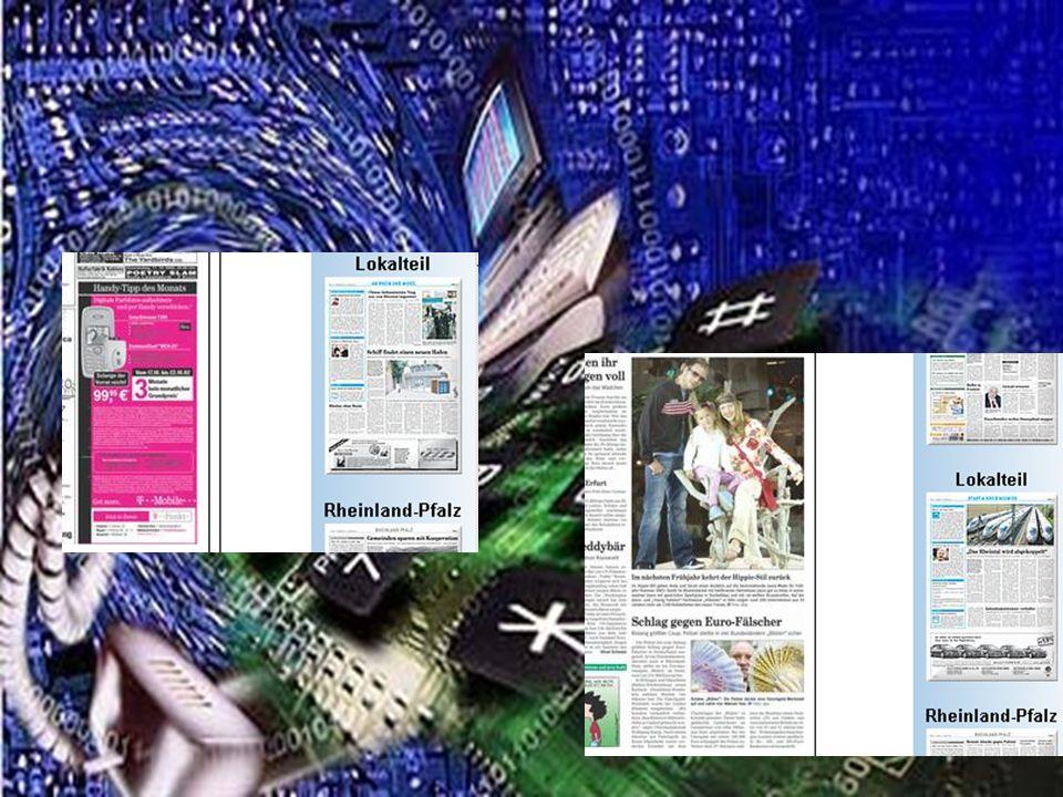 Und hinter den Anzeigen und Bildern und Texten dürfen gerne weitere Informationen, Galerien und sogar Filme und Töne liegen.