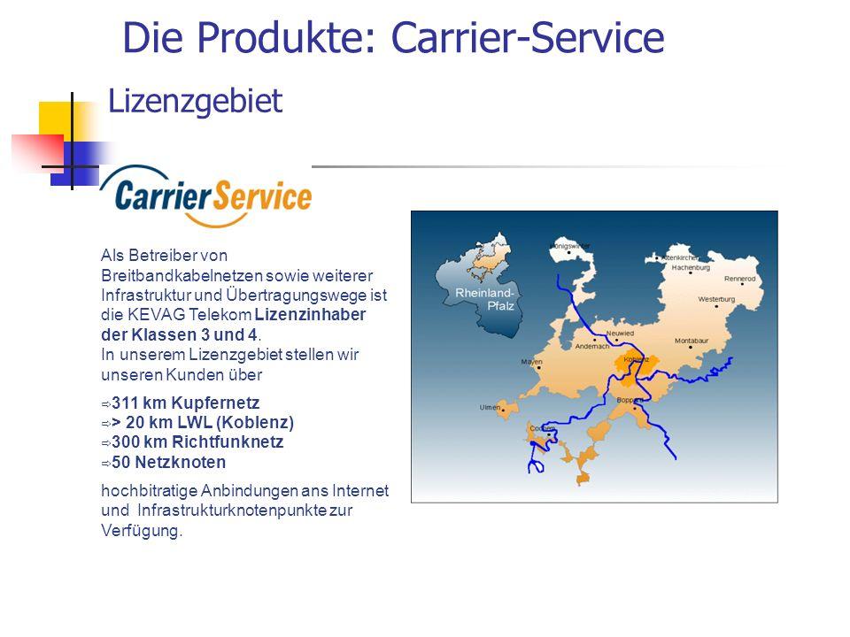 Die Produkte: Carrier-Service