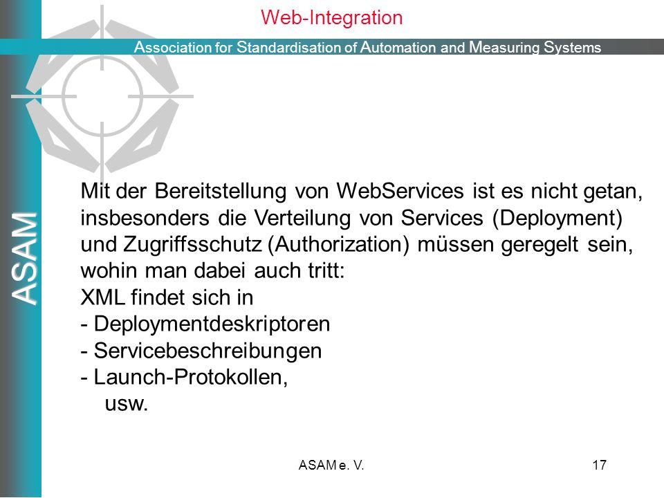 Mit der Bereitstellung von WebServices ist es nicht getan,