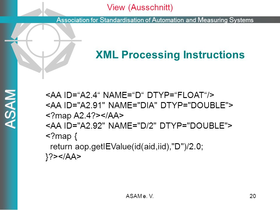 XML Processing Instructions