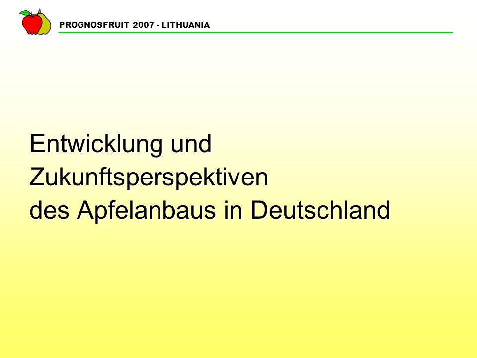 Entwicklung und Zukunftsperspektiven des Apfelanbaus in Deutschland