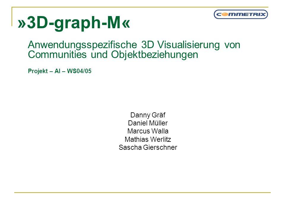 »3D-graph-M« Anwendungsspezifische 3D Visualisierung von Communities und Objektbeziehungen Projekt – AI – WS04/05