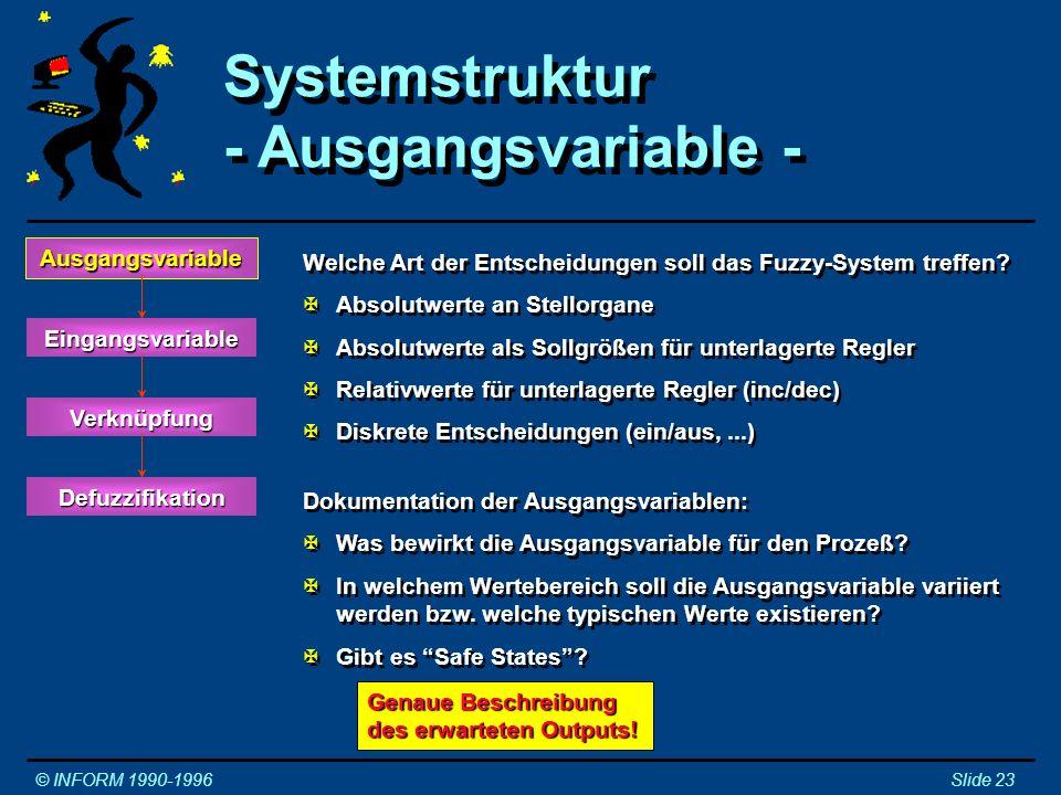 Systemstruktur - Ausgangsvariable - Ausgangsvariable