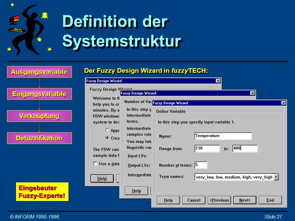 Definition der Systemstruktur