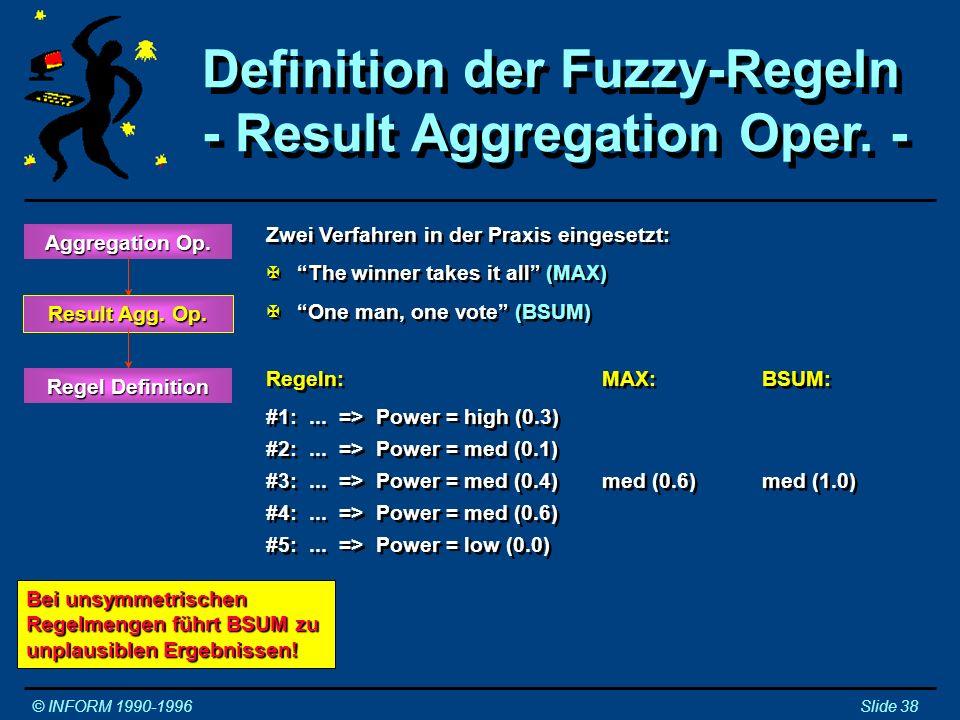Definition der Fuzzy-Regeln - Result Aggregation Oper. -