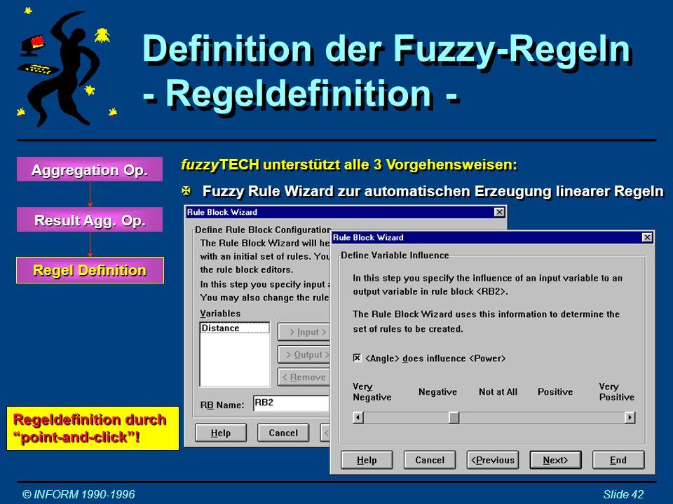 Definition der Fuzzy-Regeln - Regeldefinition -