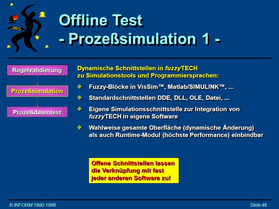 Offline Test - Prozeßsimulation 1 -