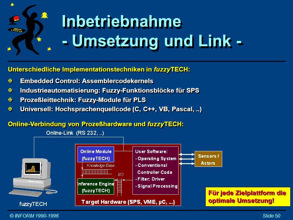 Inbetriebnahme - Umsetzung und Link -