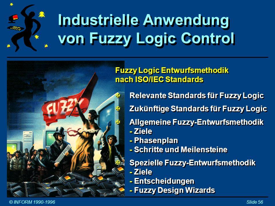 Industrielle Anwendung von Fuzzy Logic Control