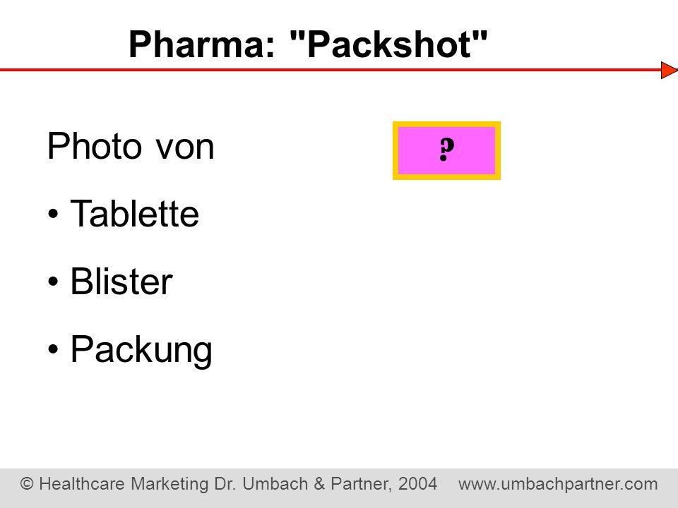 Pharma: Packshot Photo von • Tablette • Blister • Packung