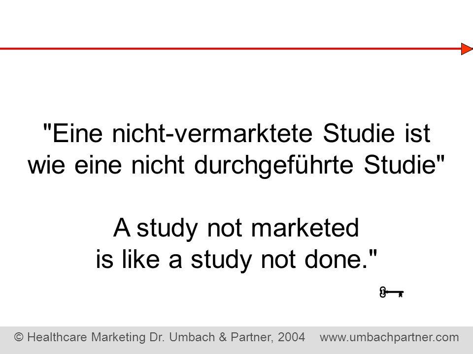  Eine nicht-vermarktete Studie ist