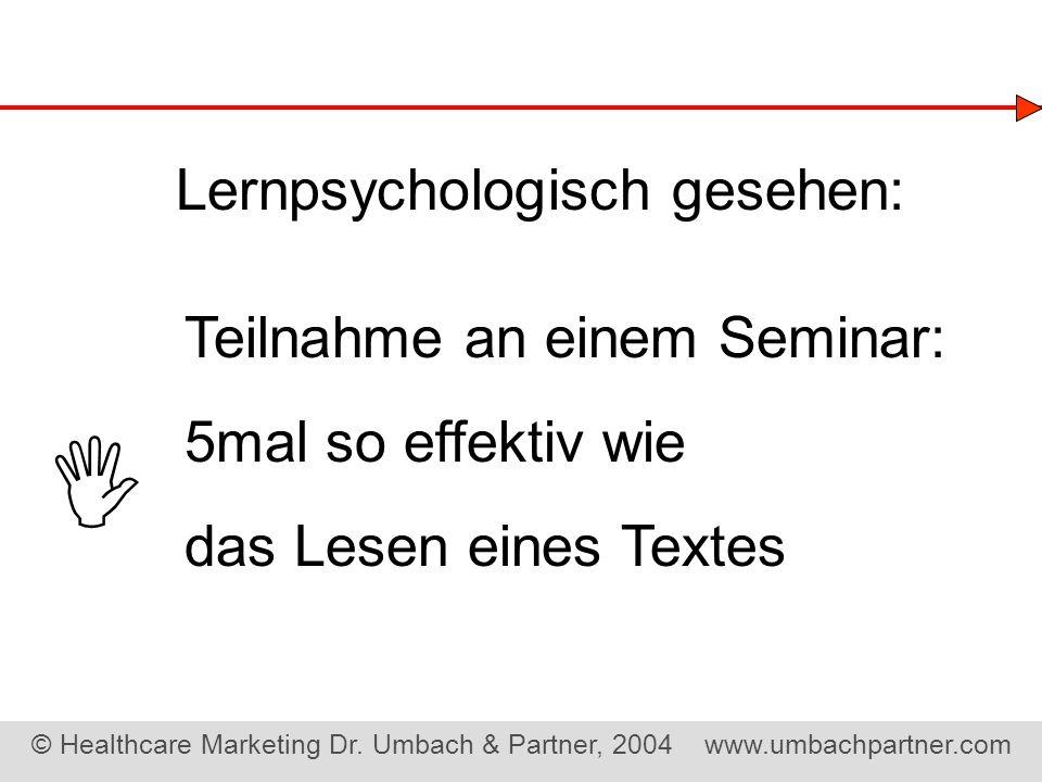  Lernpsychologisch gesehen: Teilnahme an einem Seminar: