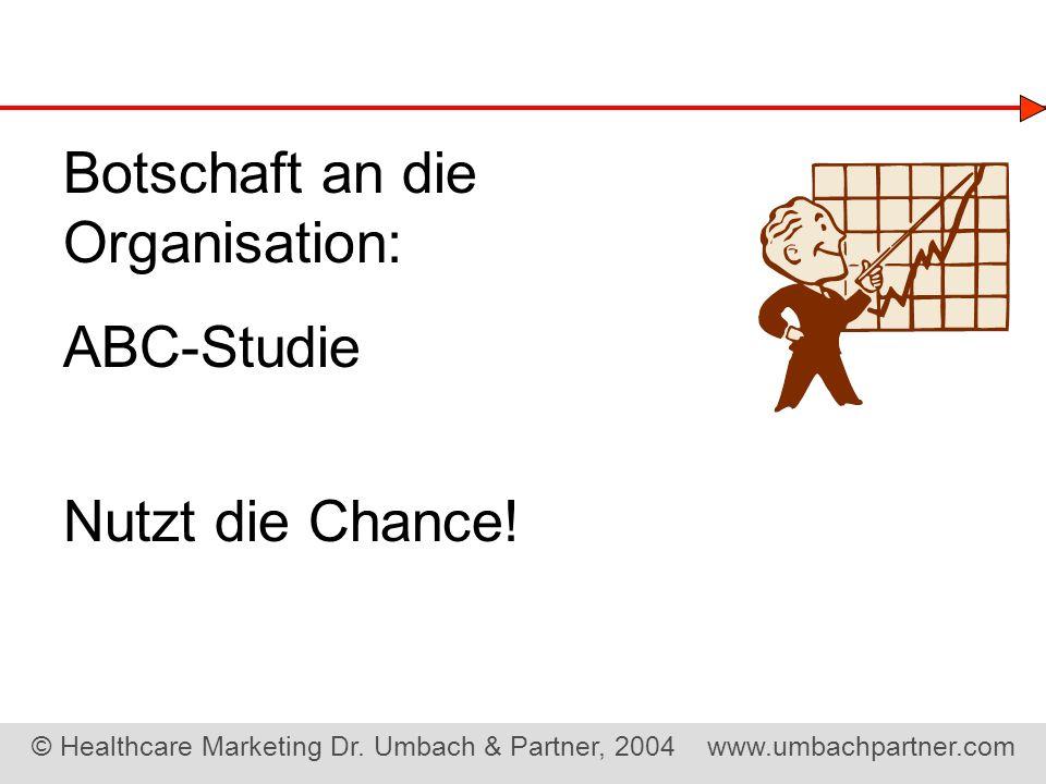 Botschaft an die Organisation: ABC-Studie Nutzt die Chance!