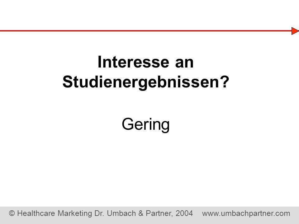 Interesse an Studienergebnissen