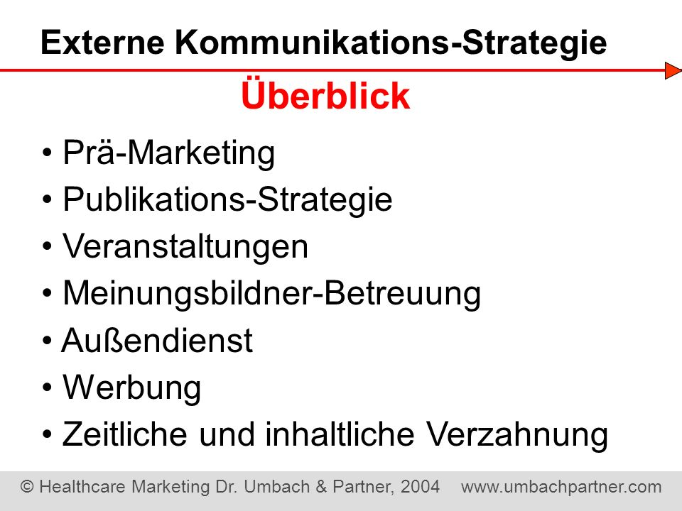 Externe Kommunikations-Strategie