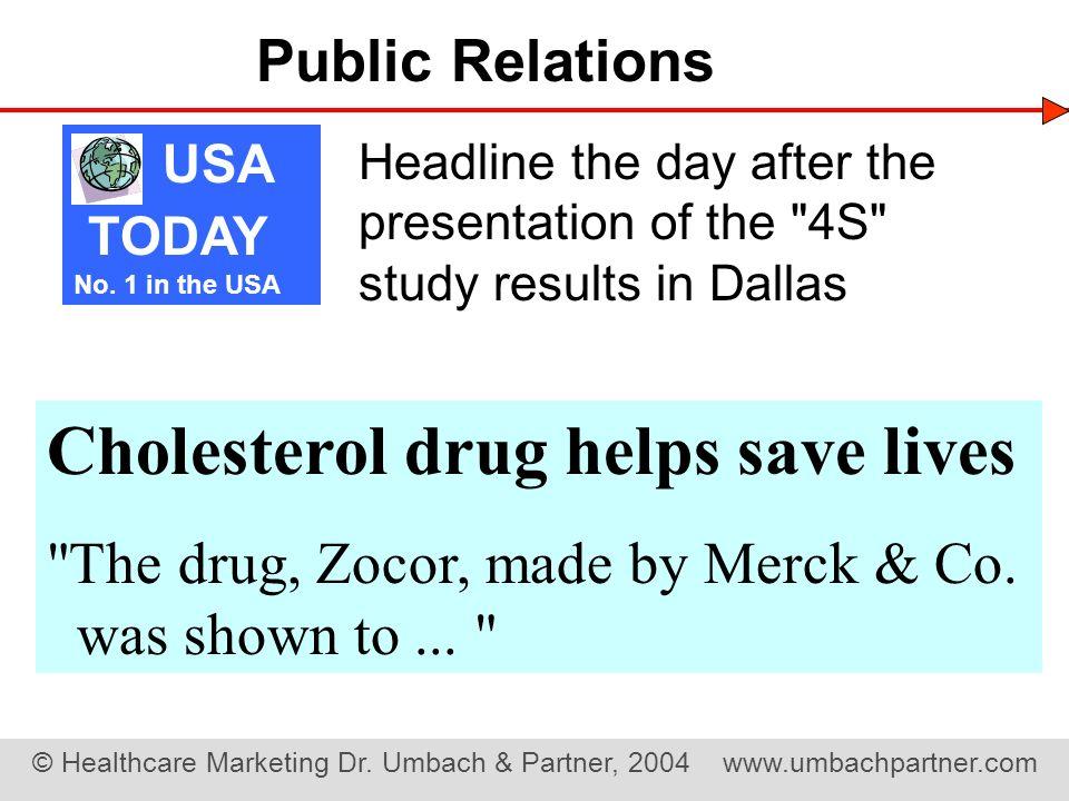Cholesterol drug helps save lives