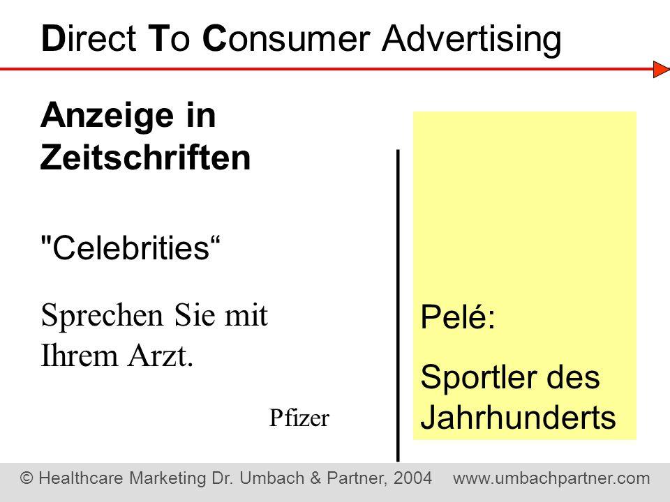 ——————— Direct To Consumer Advertising Anzeige in Zeitschriften Pelé: