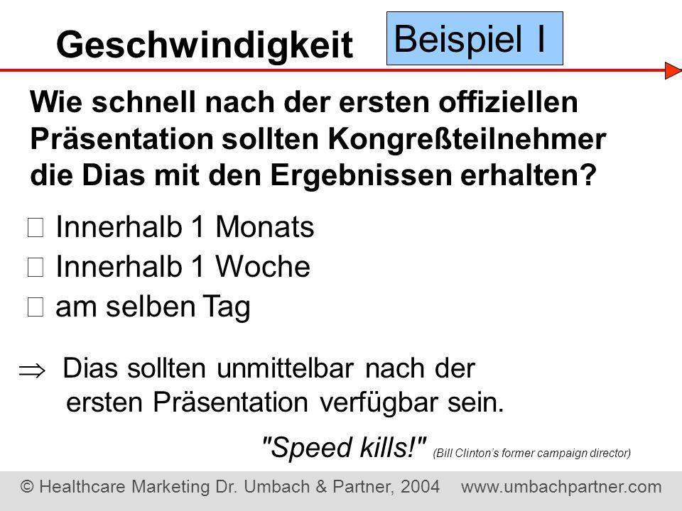 Beispiel I Geschwindigkeit
