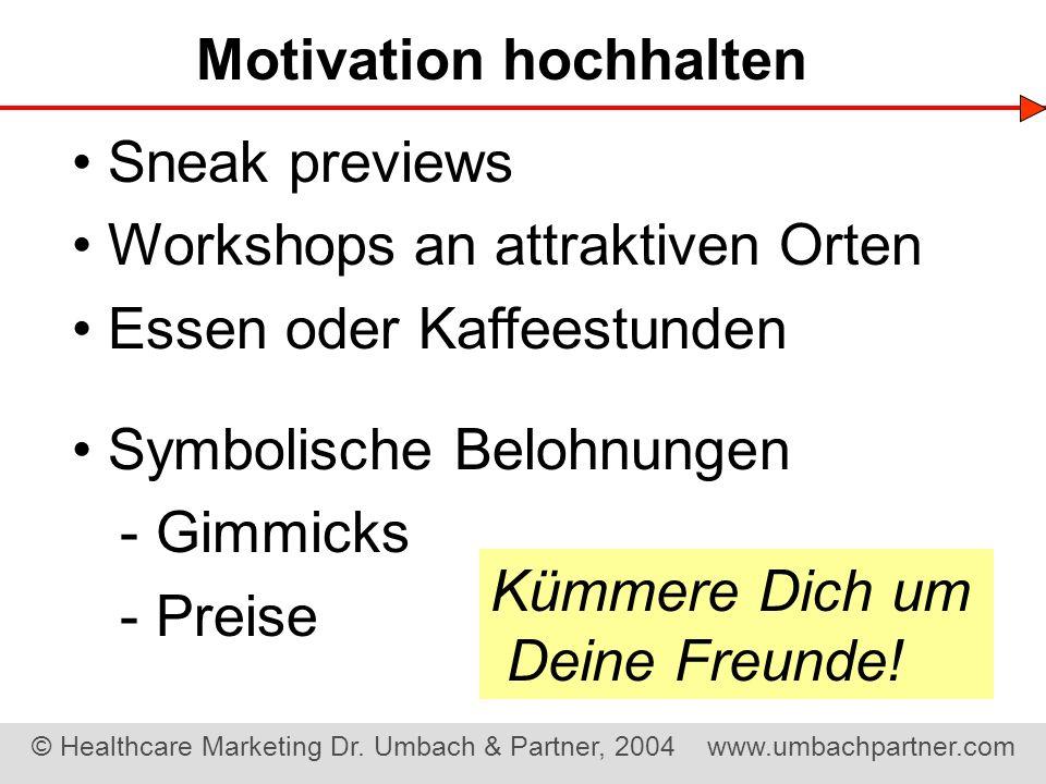 Motivation hochhalten