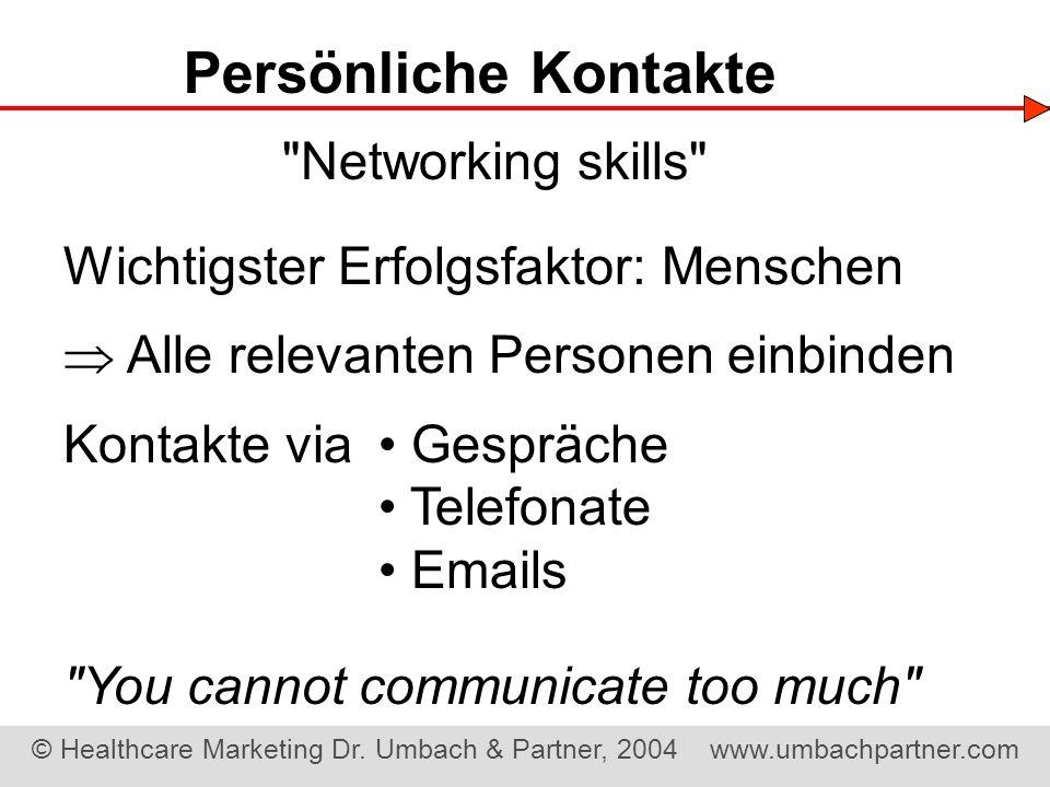 Persönliche Kontakte Networking skills