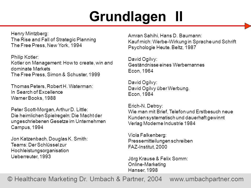Grundlagen II Henry Mintzberg: The Rise and Fall of Strategic Planning
