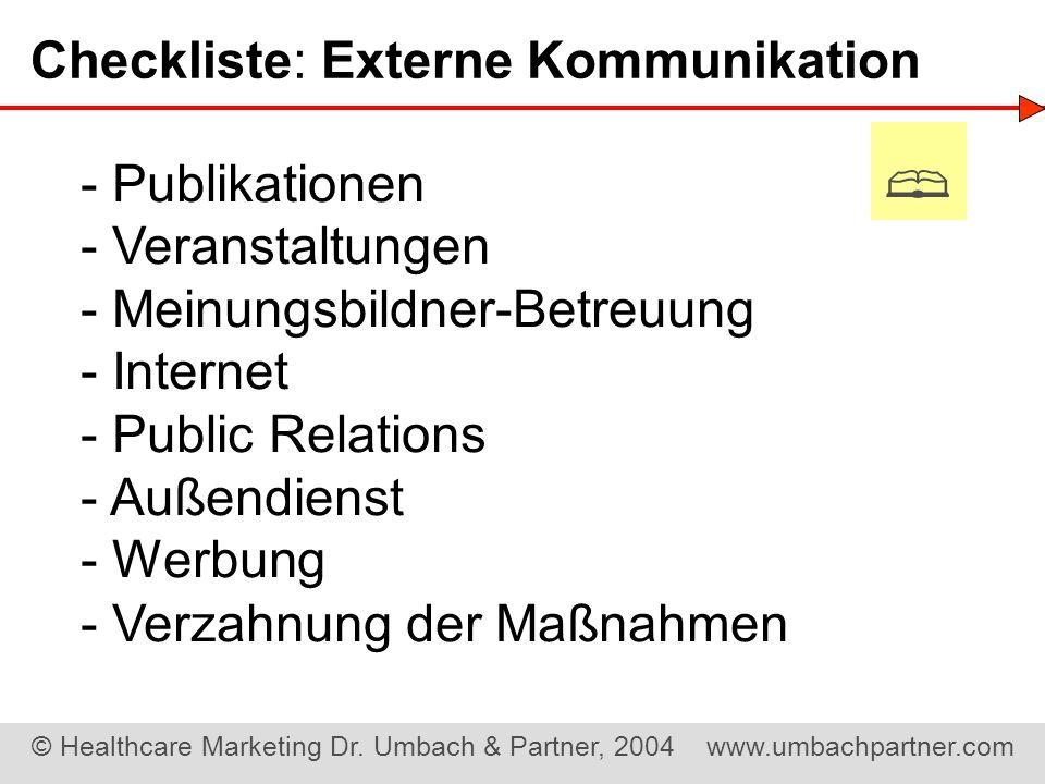 Checkliste: Externe Kommunikation