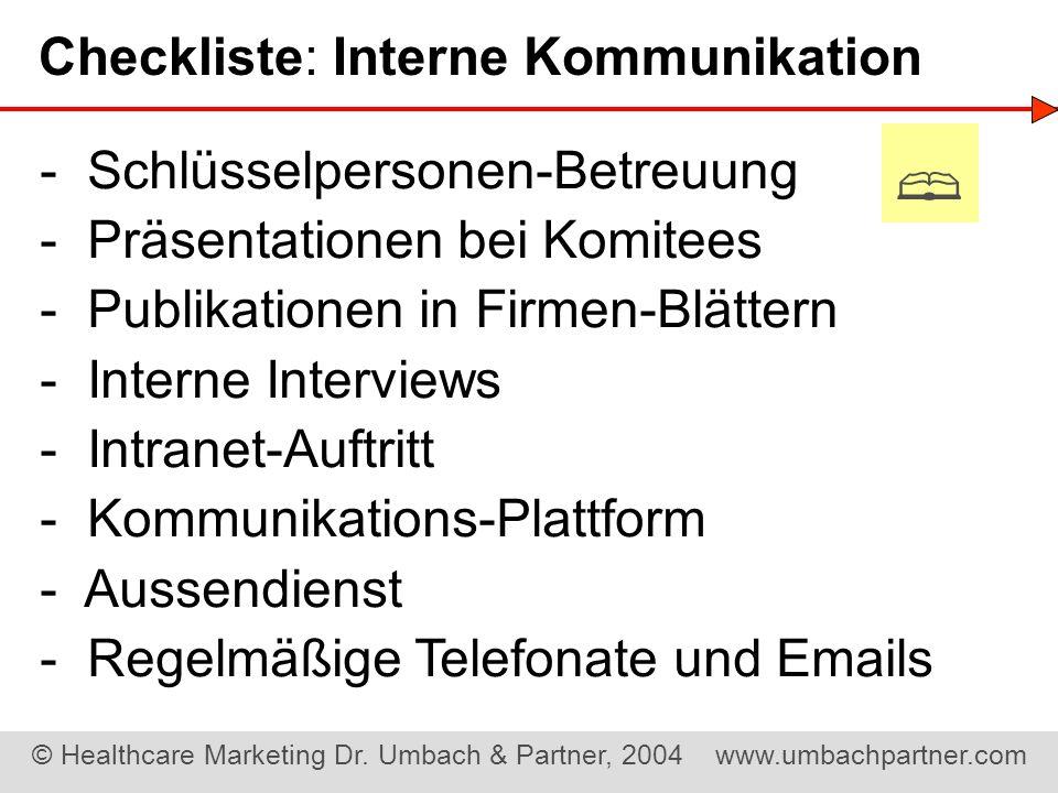 Checkliste: Interne Kommunikation