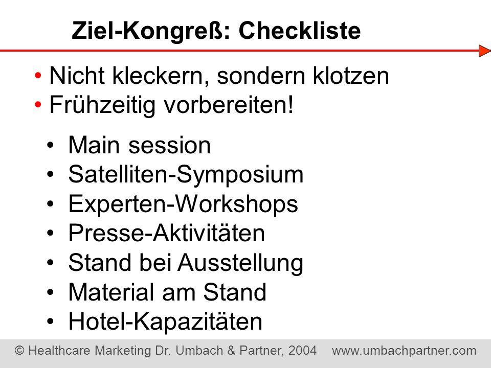 Ziel-Kongreß: Checkliste
