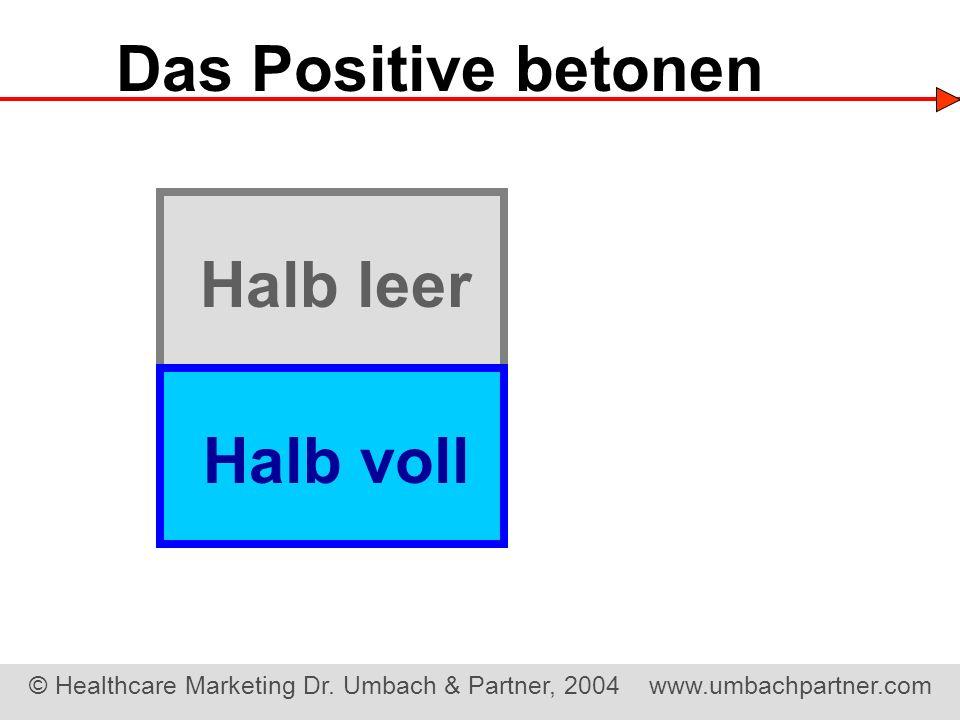 Das Positive betonen Halb leer Halb voll