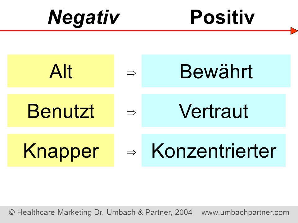 Negativ Positiv Alt Bewährt Benutzt Vertraut Knapper Konzentrierter 